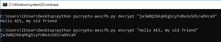 AES-CFB128: PyCrypto vs  Go
