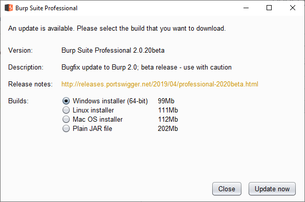 Disabling Burp's Update Screen - Part 1 - Analysis and Failures