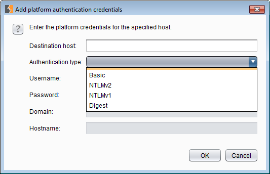 Platform authentication options