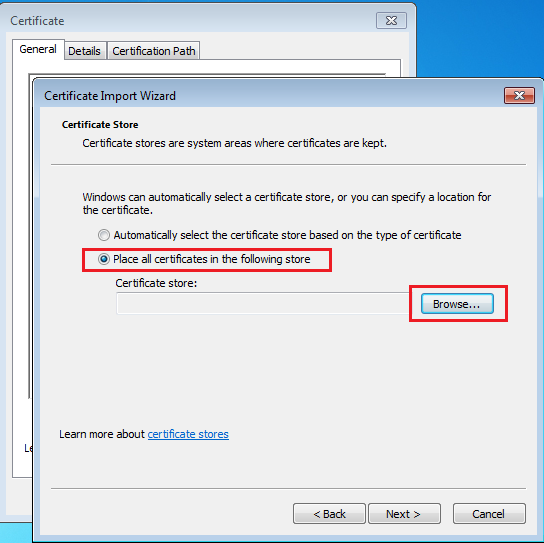Installing Burp Certificate Authority in Windows Certificate
