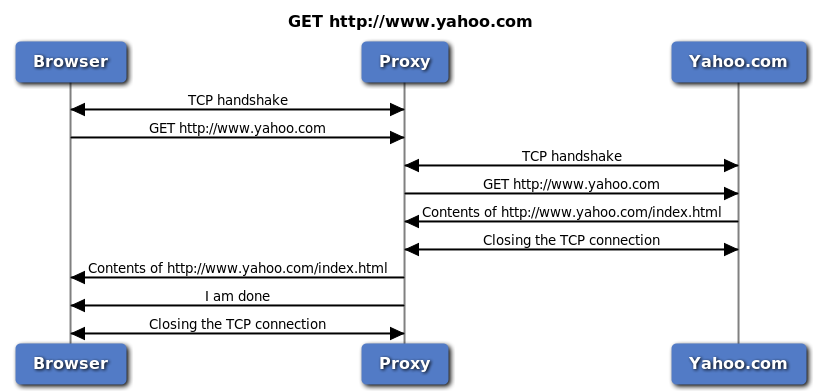 HTTP proxy in action