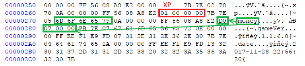 Global file in hex editor